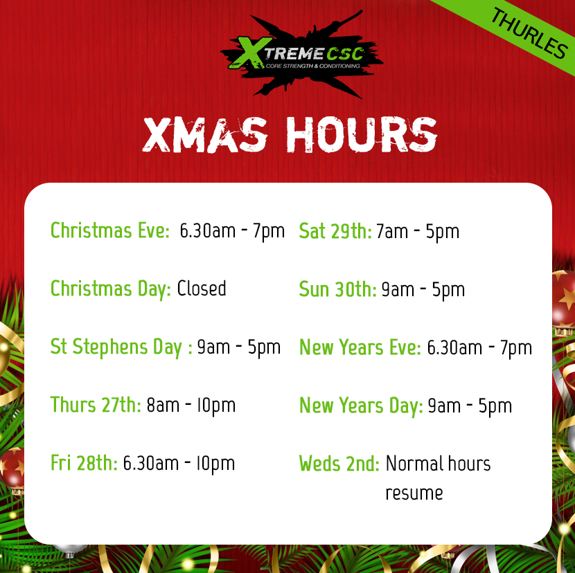 thurles xmas hours